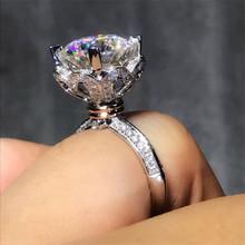 Serce miłość 100 Soild 925 srebro pierścień 1ct Sona 5A cyrkon kamień cz obrączka pierścionek zaręczynowy dla kobiet mężcz #8230 tanie tanio Pierścionki Moda Wszystko kompatybilny Zaręczyny Zespoły weselne SILVER Kobiety Cyrkonia vecalon 10mm Prong ustawianie