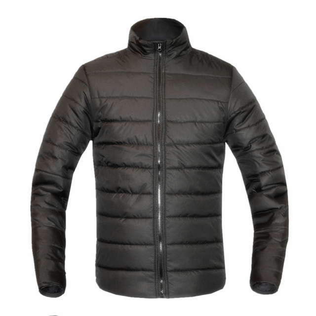 Новая Мода Повседневная мужская Вниз Пальто Куртки Зима Теплая Сгущать Утка Ветрозащитный Outcoats Одежда Стоять Воротник 10 Цвета