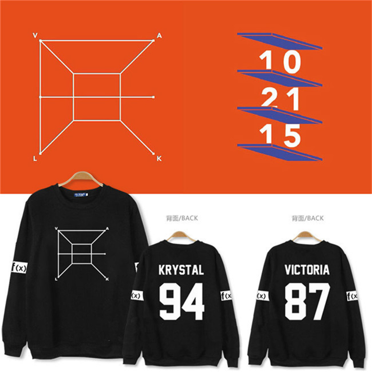 2016 new F (x) kpop concert fourth Hoodies men women fall k-pop album FX 4 wall tops clothing hoodies long sleeve coat outfit