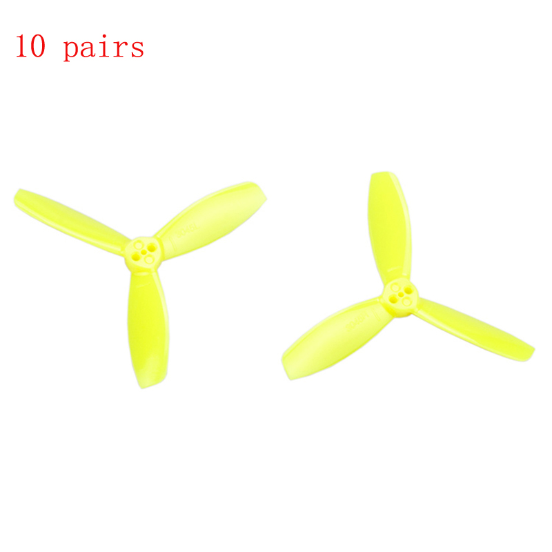 10pairs/lot 3 inch <font><b>3045</b></font> <font><b>Propeller</b></font> 3 Blades Prop Paddle 76.46mm <font><b>Propellers</b></font> for Micro Brushless FPV Drone Frame Rack Spare Parts image