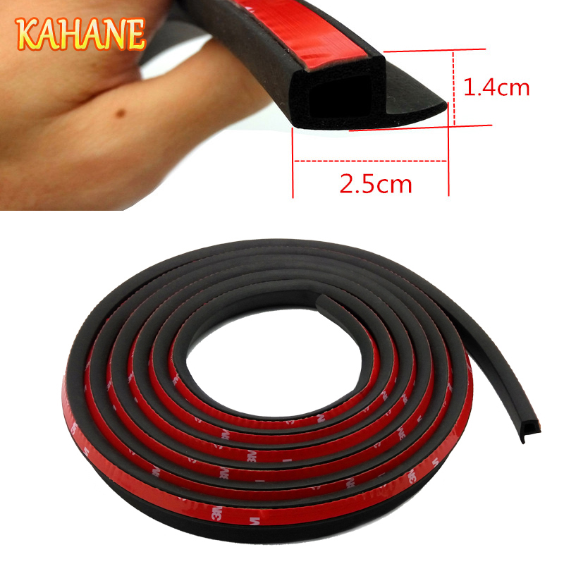 KAHANE 4M/5M P Type Car Seal Strip Auto Door Window Trunk Seal Dustproof Sound Insulation EPDM RUBBER Strip For Audi A3 A4 A5 A6
