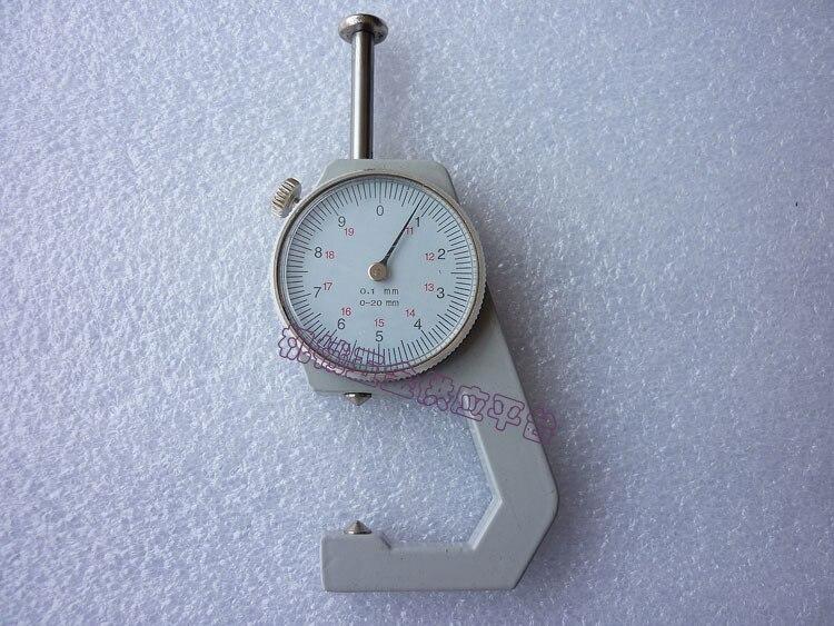 0.1mm Pocket Type Double Pin Thickness Measuring Gauge Caliper 0-20mm  thickness gauge deep throat measuring caliper 0 10 120mm depth