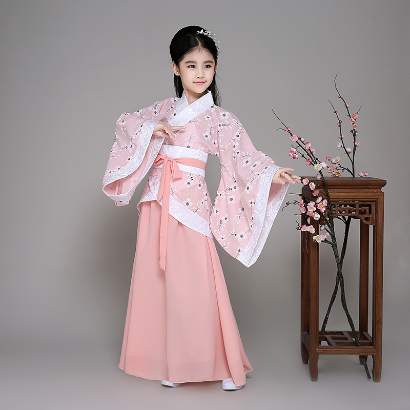 2017 autumn chinese costumes kids children's fairy costume tang dynasty princess costume hanfu guzheng dance ancient chinese cos boys costumes scholar costumes chivalrous person costumes novelty costumes ancient chinese wear