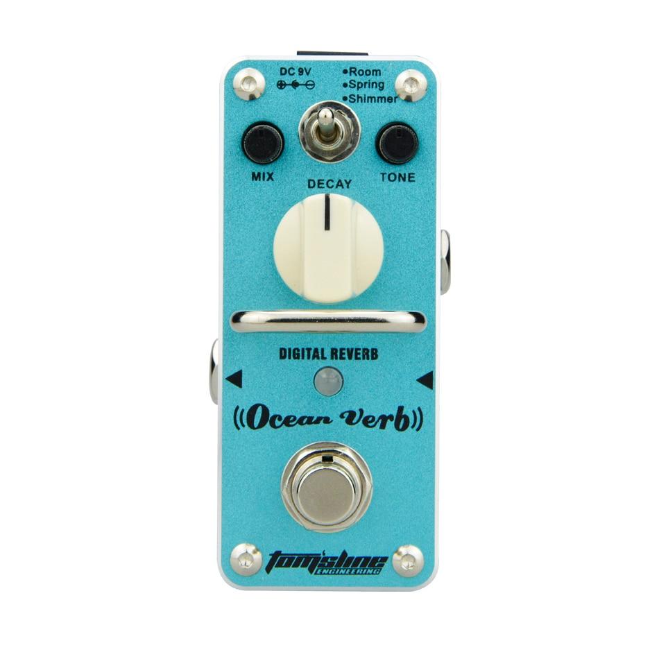 AROMA Tom sline AOV 3 Ocean Verb Digital Reverb Electric Guitar Effect Pedal Mini Single Effect