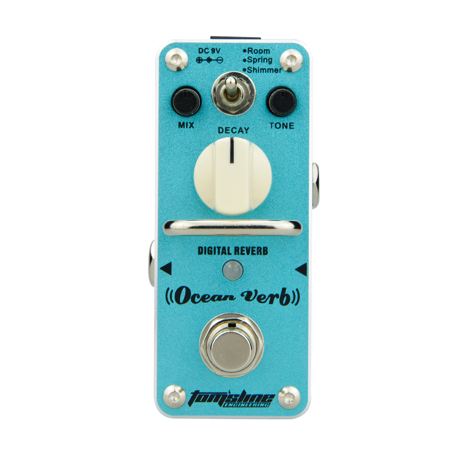 AROMA Tom'sline AOV-3 Ocean Verb Digital Reverb Electric Guitar Effect Pedal Mini Single Effect with True Bypass Guitar Parts aroma tom sline abr 3 mini booster electric guitar effect pedal with aluminum alloy housing true bypass durable guitar parts