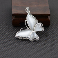 GZ 925 Silver Opal Pendant 100 Pure S925 Solid Thai Silver Butterfly Pendants For Men Jewelry