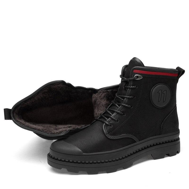 Invierno E Casuales single Terciopelo Hombres Cálido Black Al Black Fur Backcamel Libre Encaje Negros Antideslizante Aire Botas De Otoño Cuero Zapatos Los P5qWxRFEw