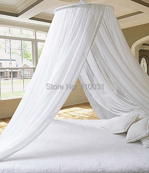 DREAMMA White Round Mosquito Net Repeller Gauze Princess Mesh Bed Canopy  Outdoor Play Tent Toy Kids Bedroom Decor Cover Curtain - Canopy Bed Covers Promotion-Shop For Promotional Canopy Bed Covers