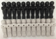 FREE SHIPPING 22pcs/lot  black/white 5/8″ rod Foosball Soccer Table football man Player men replacement parts 11