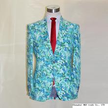 light blue color camouflage half lining summer linen man's fashion suit, custom tailor made man's MTM suit free shipping
