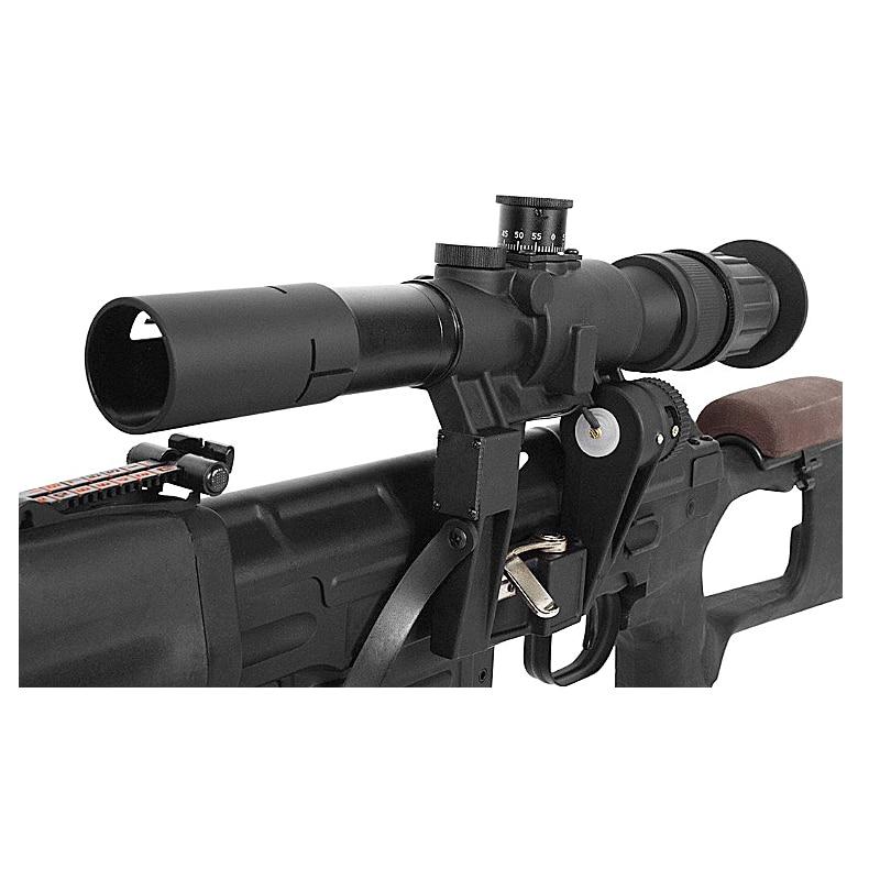 Tactique SVD Dragunov 4x26 rouge portée éclairée pour la chasse fusil à air souple portée de tir AK portée airsoft pistolets à air comprimé