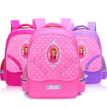 Cute Princess School Bags for girls Cartoon Children Backpacks kids Primary School Backpack Kids Bookbag satchel mochila lovely(China)