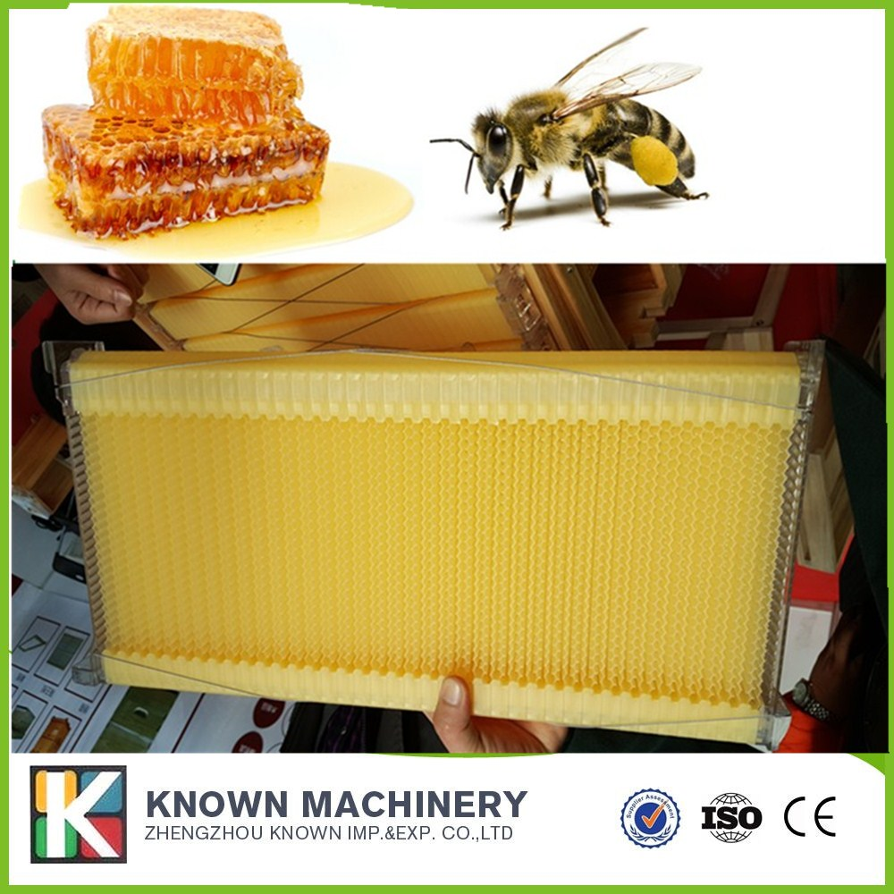 New style plastic honey flowing beehive frame with comb foundation sheet 4 pieceNew style plastic honey flowing beehive frame with comb foundation sheet 4 piece