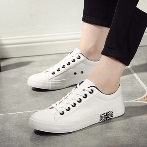 Image 5 - Flat Shoes Men Canvas White/Black Solid Sneakers Lightweight Breathable Foodwear New Fashion Casual Shoes Mens Male
