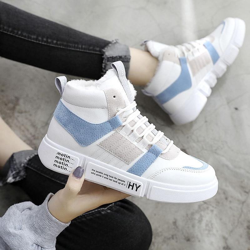White Shoes Woman Sneakers Platform