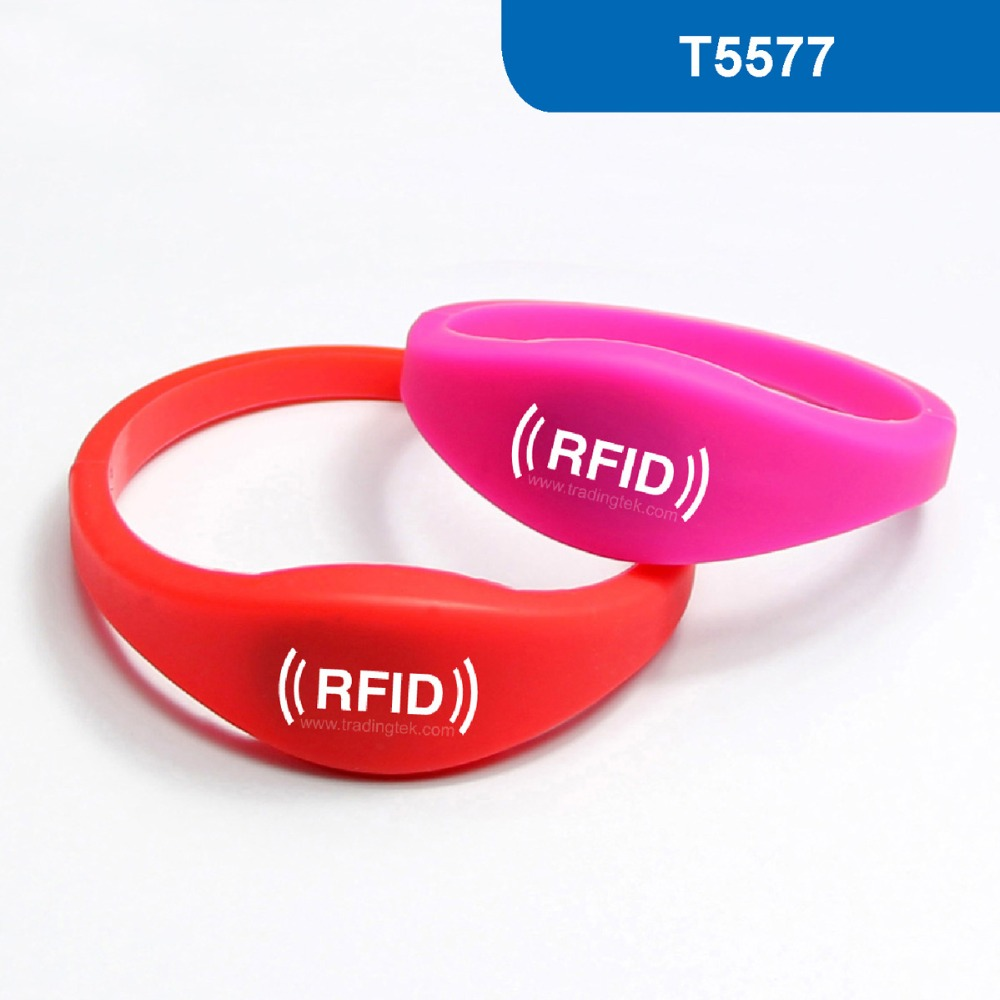 WB03 Silicone RFID Wristband RFID Bracelet proximity tag for Hotel Lock 125KHz 330 BITS R/W with T5577 Chip Free Shipping hotel lock system rfid t5577 hotel lock gold silver zinc alloy forging material sn ca 8037