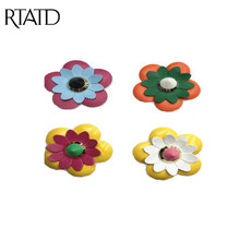 RTATD Colored ABS leather flower bag parts bag button DIY handbags strap accessory simple and chic brand design hot selling(China)