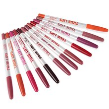 15cm 12Colors / Set Lips Makeup Tools Women Professional Long Lasting Lipliner
