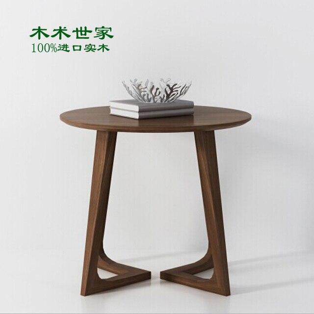 Estilo IKEA mesa de centro de madera redonda pequeña tabla a few ...