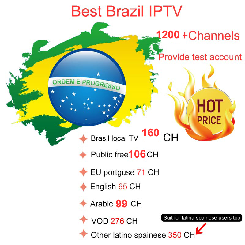 12 months Brazil IPTV  Best HD 1200+ Channels  Brazil IPTV hot selling Um ano Brasil IPTV Canais1200+Forneca um numero de teste