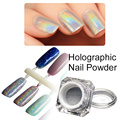 1 Box Shiny Laser Nail Powder Holographic Nail Glitter Dust Rainbow Chrome Pigment Manicure Pigments Holographic Powder