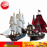 LEPIN 16009 Pirates of The Caribbean Queen Anne's Reveage +22001 Pirates Imperial Flagship Bricks Block Building Educational Toy