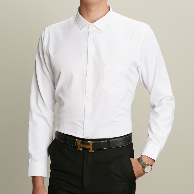 Winter Warm New Arrived mens work shirts Brand Long sleeve social twill men dress shirts white black male shirts 4xl many color in Dress Shirts from Men 39 s Clothing