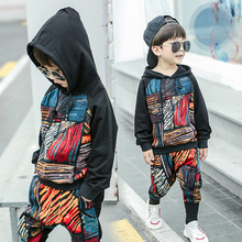 Kids Pants Suit Baby-Boy Coat Hooded Spring Long-Sleeve 2-8-Years Children's Cotton Autumn