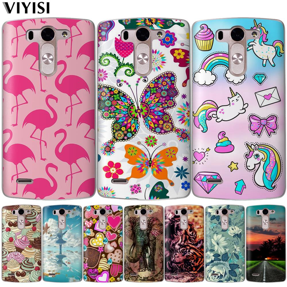 VIYISI For LG X Power 2 X Screen Q6 Q8  K7 K8 K10 G4 G5 G6 Phone Cases Cute Animal Silicone Cover For K8 K10 2017 Case