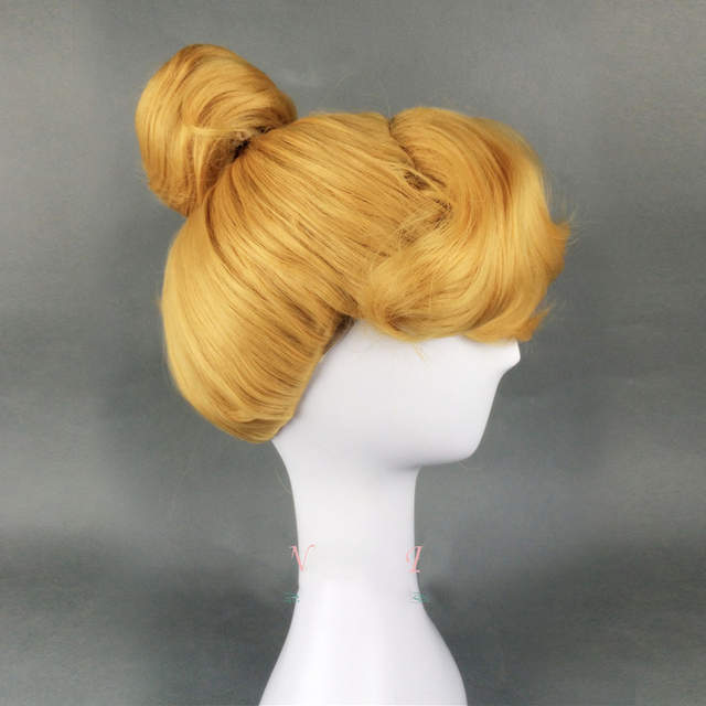 Online Shop Halloween Cinderella Princess Cosplay Wig Yellow wig Role Play  Classic Cinderella Updo Styled Role Play Wig + Wig Cap  0d2d943eb7d5