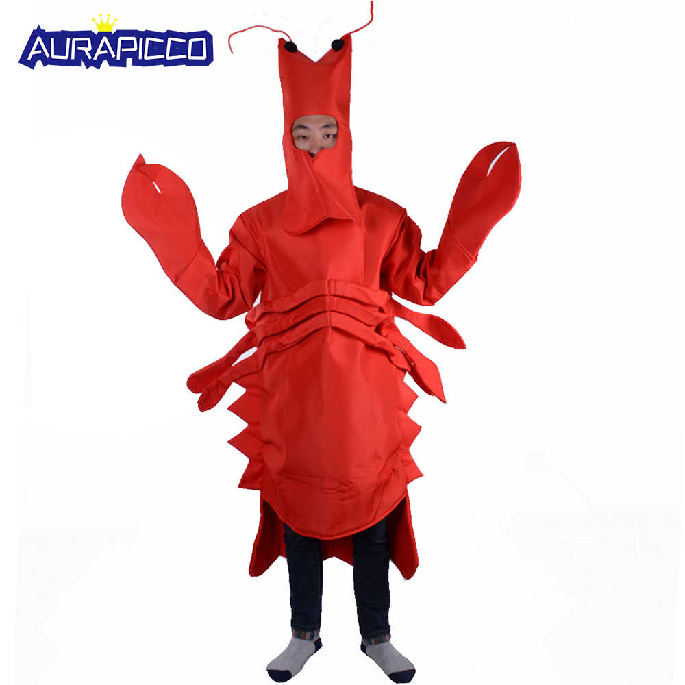 e73835f6 New Red Lobster Costume Sea Animal Fancy Dress Adult Unisex Mascot Costumes  Outfit Mardi Gras Halloween Party Dress Up
