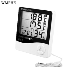 WMPHE Digital C/F Thermometer Hygrometer Electronic LCD Temperature Humidity Meter Alarm Clock Indoor Outdoor Weather Station