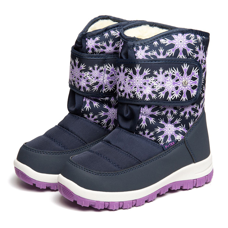 FLAMINGO Winter Wool Warm High Quality Waterproof Kids Shoes Anti-slip Orthotic Arch Size 27-32 Snow Boots for Girl 82M-QK-0927