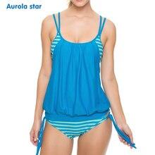 Женский купальный костюм для беременных плюс размер женский купальник для беременных полосатый комплект танкини летний комплект бикини для беременных