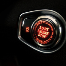 1pc Start Stop Engine Button cover trim for BMW X3 X4 X5 X6 2012-2019 Carbon Fibre auto Engine One-Key Switch Button Cover Decor one key engine start button switch set for auto refitting with red light dc 12v 30a