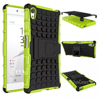For Sony Xperia Z5 Plus Premium Case 5 5inch Hybrid Kickstand Rugged Rubber Armor Hard PC