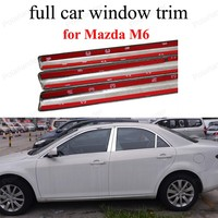 For M azda M6 with center pillar full Window Trim Stainless Steel Exterior Accessories Car Cover