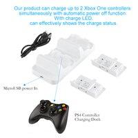 Palissi Dual Ladestation Ladestation Station mit 2 stücke Wiederaufladbare Batterien Für Xbox One S Gamepad Controller
