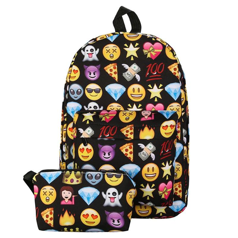 3d Cute Smile Printing Backpacks Women Teenage Girls Travel Nylon Shoulder School Bags Rucksack Hot Sale Students New Backpack