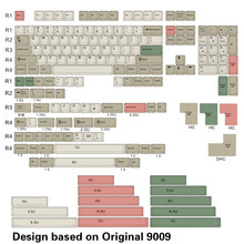 OG 9009 tuş stokta OG 9009 boya alt tuş tam kitleri, kiraz profili ve kalın PBT