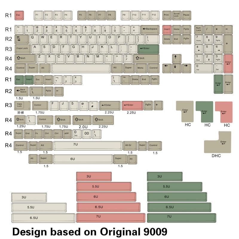 OG 9009keycap In stock: OG 9009 dye sub Keycap full kits, cherry profile and thick PBT цены