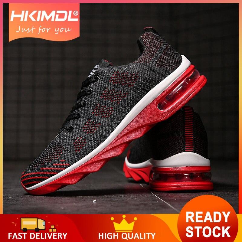 HKIMDL 2019 hommes chaussures d'été baskets chaussures décontractées respirantes Couple amoureux mode à lacets hommes maille chaussures plates