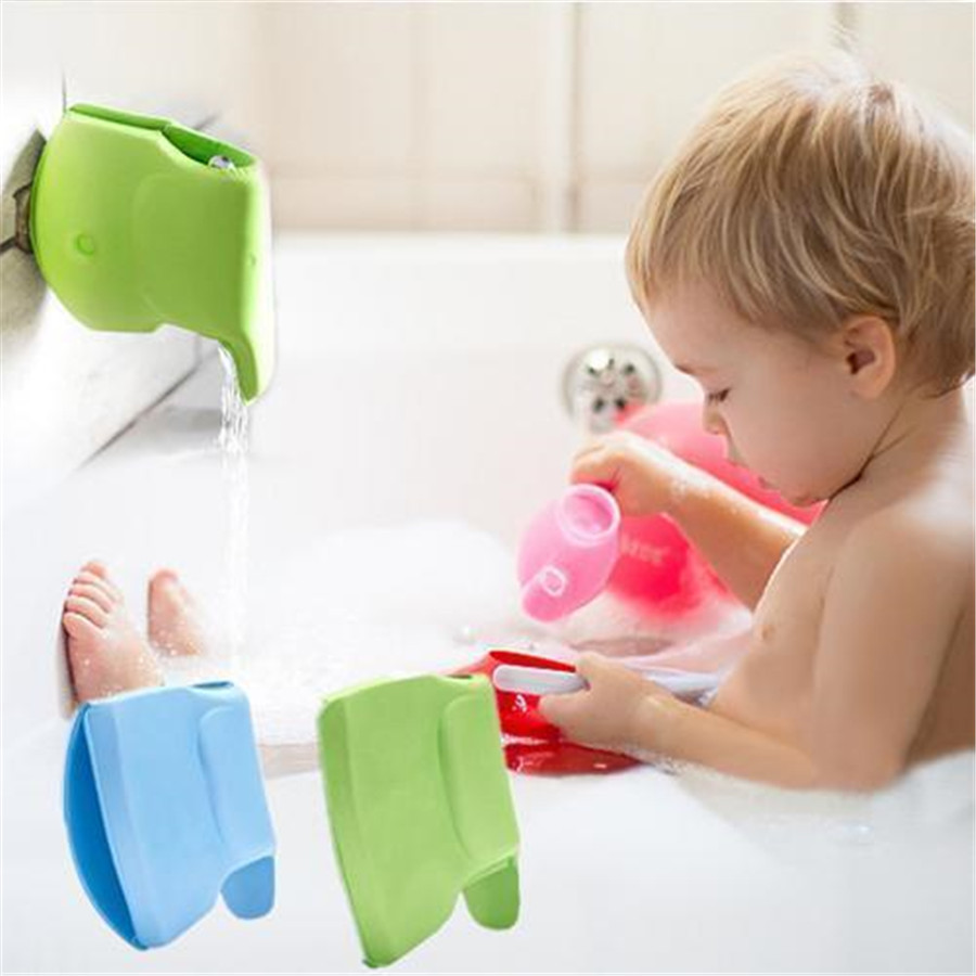 1PC Cartoon Elephant EVA Water Faucet Protection Cover Baby Safety Protector Guards For Bath Tap