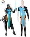 Overwatch OW Satya Vaswani Symmetra Vestido de Juego del traje de Cosplay