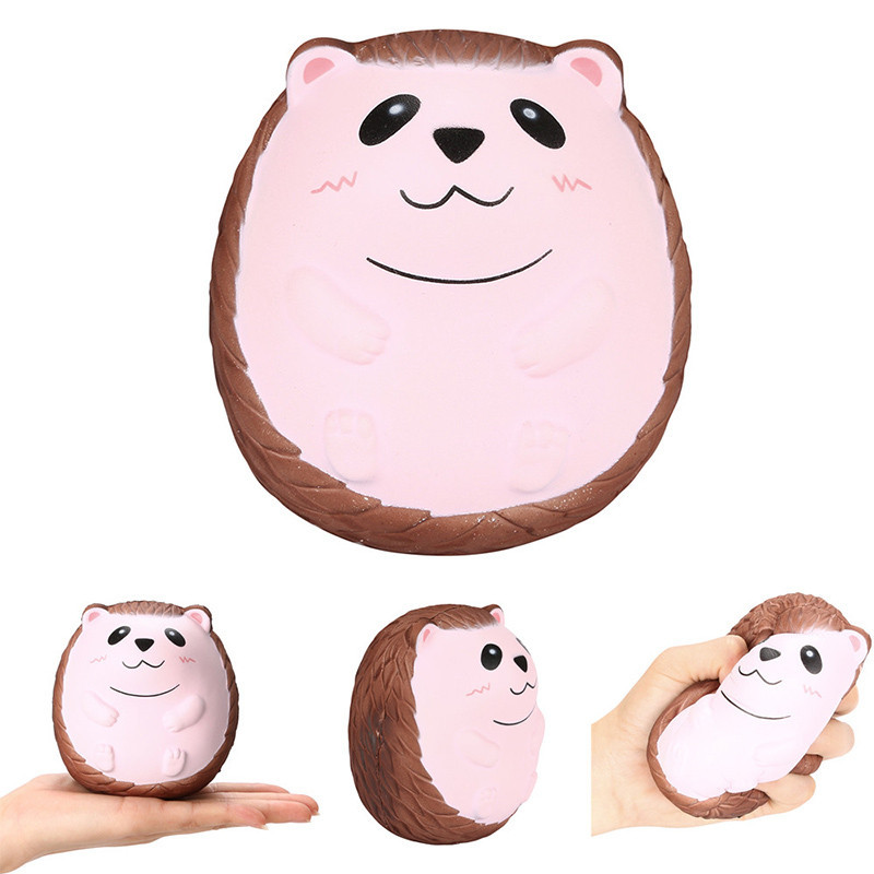 Squishy Cute Hedgehog Scented Charm Slow Rising Squeeze Stress Reliever Toy Slow Rising Soft Squishes Lovely Phone Straps Toys 10pcs slow rising soft squeezing charms stress release toy