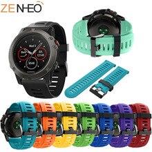 Colorful Soft Silicone Sport Band for Garmin Fenix 3/3HR Wrist Bracelet Strap 5X5X Plus Replacement Watch