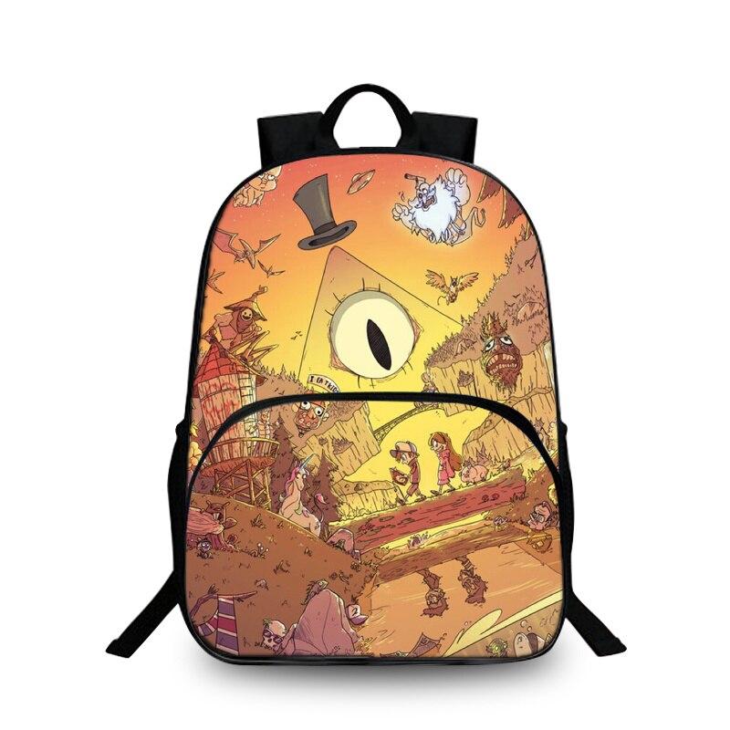 Baobeiku 3D Рюкзаки модный принт характер Сумки для детей школьная дети рюкзак для ноутбука дропшиппинг