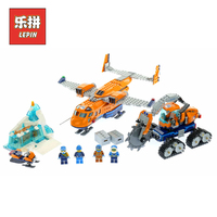New Lepin 02112 Kid Toys City Series the Arctic Supply Plane Set 60196 Building Blocks Bricks Legoinglys Toys Model Boy Gifts