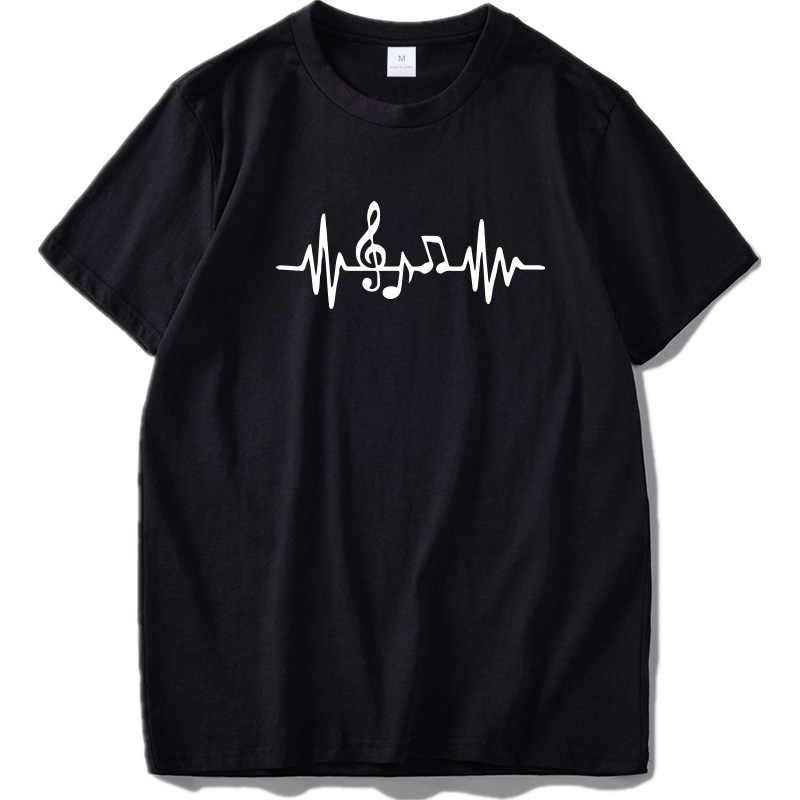 Guitar T shirt Music Fashion O-Neck Casual Tshirt 100% Cotton Breathable Fitness Top Hip Hop T-Shirt