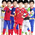 2016 Boys Pijamas Kids Set Children's Pyjamas Clothing Sets Kids Pajamas Baby 2-7 Years Cartoon Pyjama Enfant  Sleepwear KF041